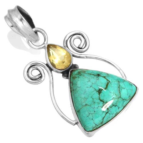 Wholesale Extended Line of Wholesale Pendants (Product ID = 16067_P_Turquoise_3.80)