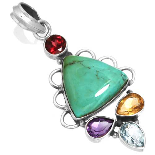 Wholesale Extended Line of Wholesale Pendants (Product ID = 16068_P_Turquoise_5.60)