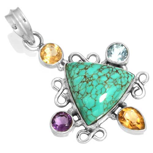 Wholesale Extended Line of Wholesale Pendants (Product ID = 16069_P_Turquoise_5.60)
