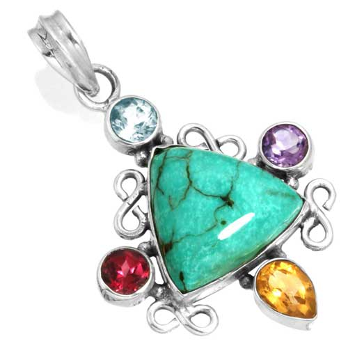 Wholesale Extended Line of Wholesale Pendants (Product ID = 16070_P_Turquoise_5.70)