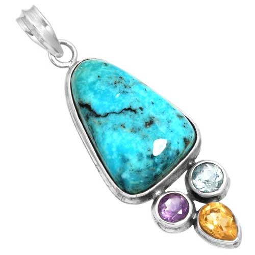 Wholesale Extended Line of Wholesale Pendants (Product ID = 16071_P_Turquoise_8.20)