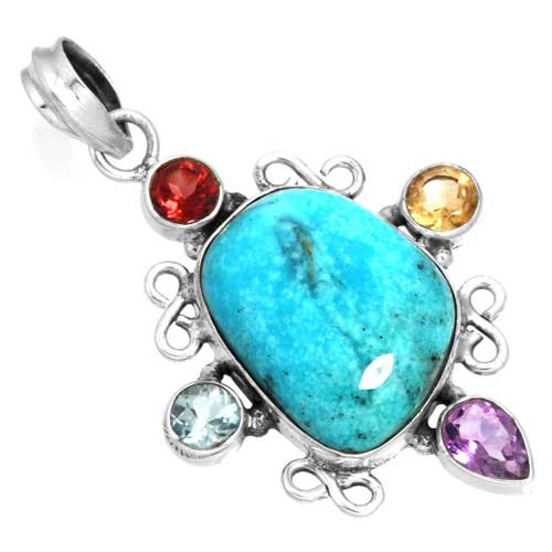 Wholesale Extended Line of Wholesale Pendants (Product ID = 16072_P_Turquoise_7.20)