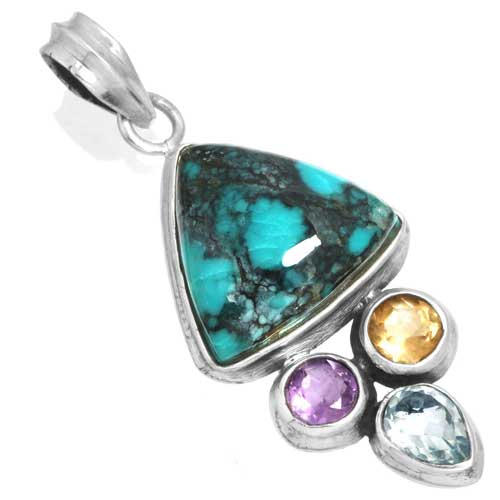 Wholesale Extended Line of Wholesale Pendants (Product ID = 16075_P_Turquoise_5.70)