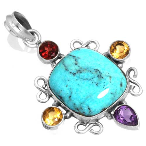 Wholesale Extended Line of Wholesale Pendants (Product ID = 16077_P_Turquoise_7.10)