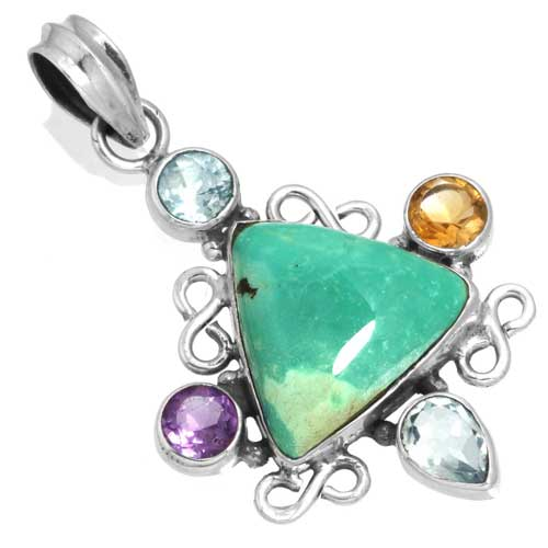Wholesale Extended Line of Wholesale Pendants (Product ID = 16080_P_Turquoise_5.60)