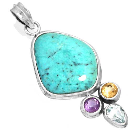 Wholesale Extended Line of Wholesale Pendants (Product ID = 16092_P_Turquoise_7.50)