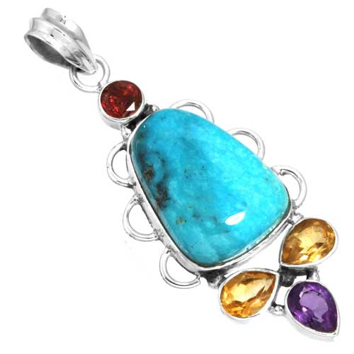 Wholesale Extended Line of Wholesale Pendants (Product ID = 16094_P_Turquoise_7.00)