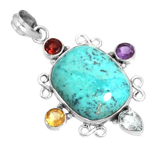 Wholesale Extended Line of Wholesale Pendants (Product ID = 16095_P_Turquoise_7.70)