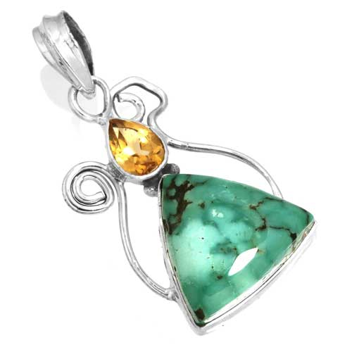 Wholesale Extended Line of Wholesale Pendants (Product ID = 16099_P_Turquoise_4.70)
