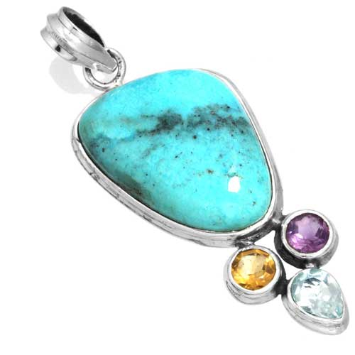 Wholesale Extended Line of Wholesale Pendants (Product ID = 16100_P_Turquoise_8.50)