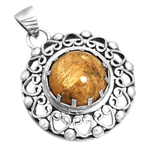 Wholesale Extended Line of Wholesale Pendants (Product ID = 16117_P_Golden_Routile_6.60)