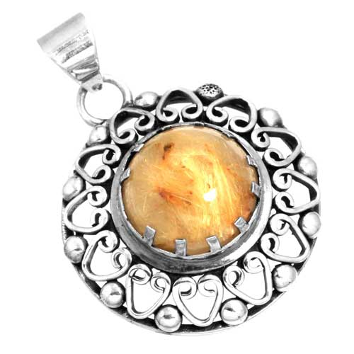Wholesale Extended Line of Wholesale Pendants (Product ID = 16123_P_Golden_Routile_6.60)