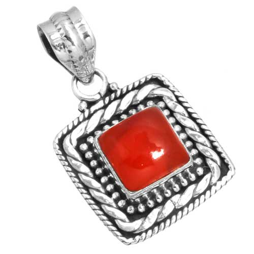 Wholesale Extended Line of Wholesale Pendants (Product ID = 16151_P_Red_Onyx_4.60)