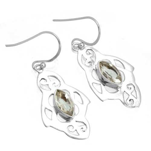 Sterling silver Amethyst (4ctw) Earring