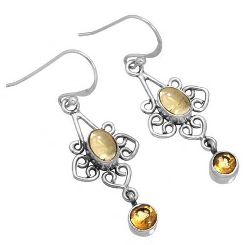 Sterling silver Citrine Earring