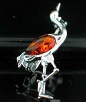 Wholesale Baltic Amber Jewelry (Product ID = AMB_Brooch19Bird)