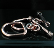 Sterling silver Copper Clasps Findings_Copper