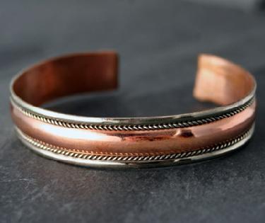 Sterling silver Copper Bracelet CopperBracelet