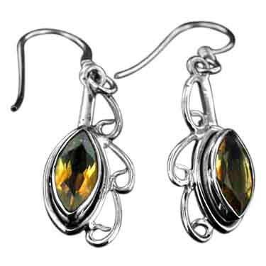 Sterling silver Citrine (7ctw) Earring