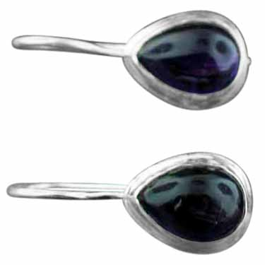 Sterling silver Amethyst (7x12mm) Earring
