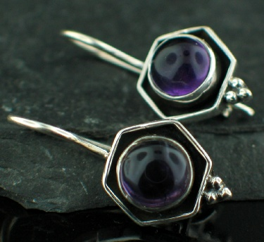 Sterling silver Amethyst (faceted) Earring