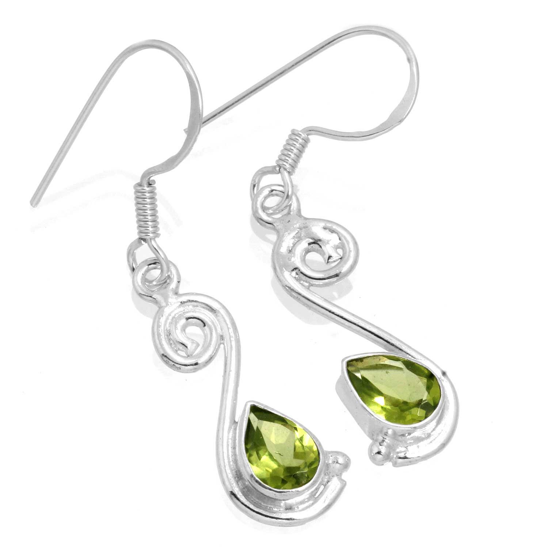 Sterling silver Peridot (3ctw) Earring