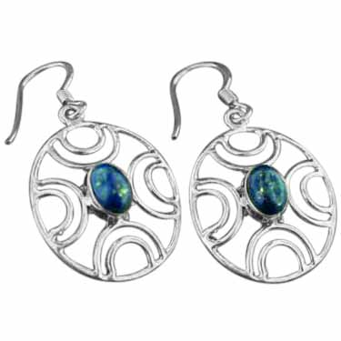 Sterling silver Lapis (4x6mm) Earring