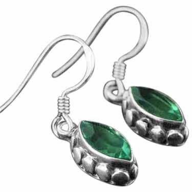 Sterling silver Fluorite (ok DALE?!) Earring