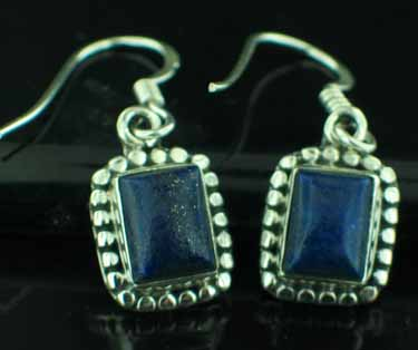 Sterling silver Lapis (7x10mm) Earring