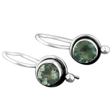 Sterling silver Blue Topaz (2ctw) Earring
