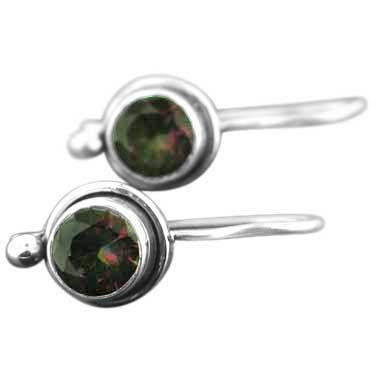Sterling silver Mystic Topaz (2 ctw) Earring