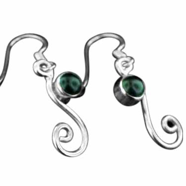 Sterling silver Black Onyx (5mm) Earring