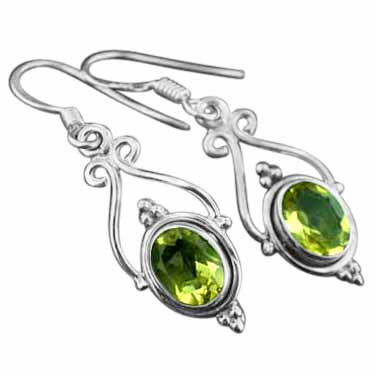 Sterling silver Citrine (4ctw) Earring
