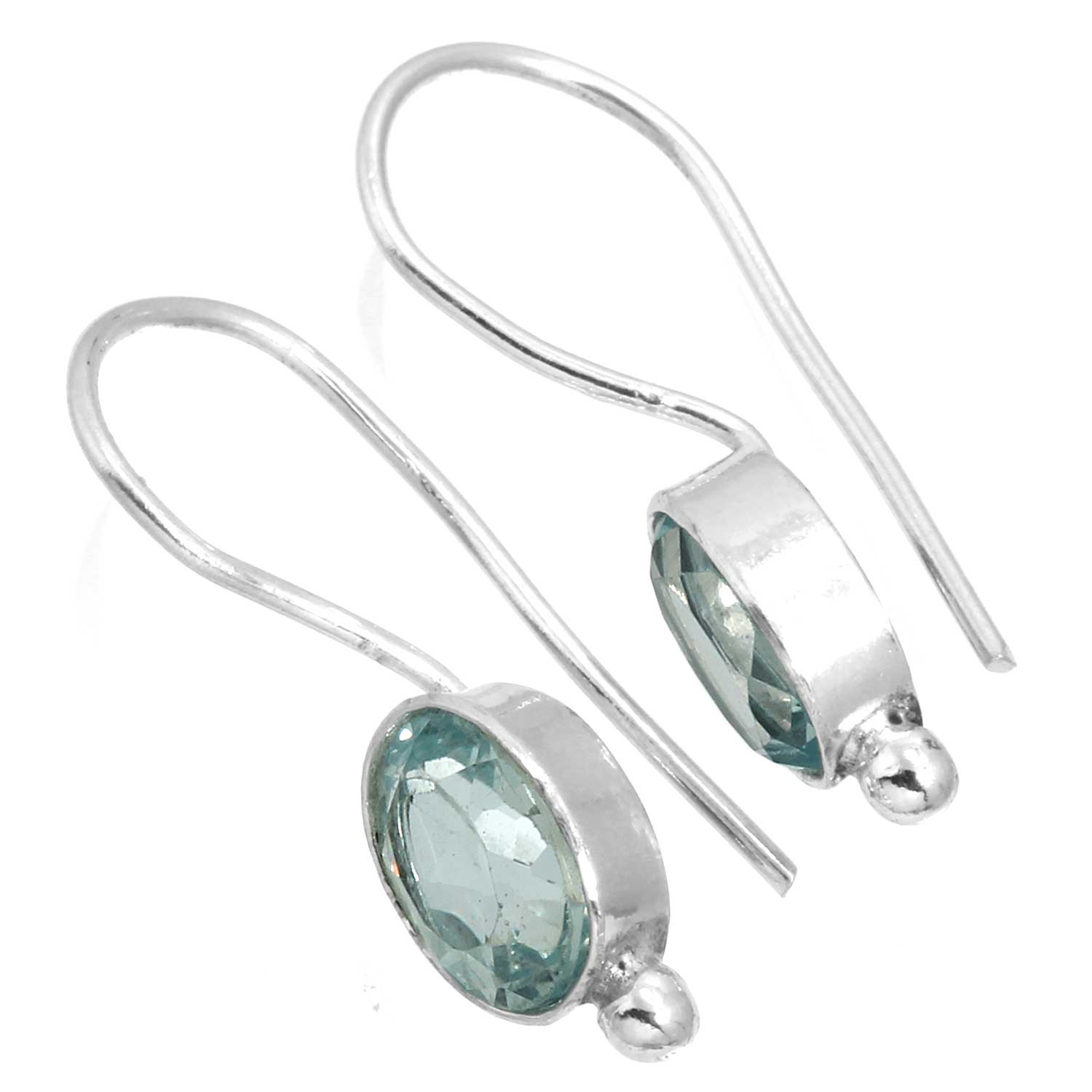 Sterling silver Blue Topaz (3 ctw) Earring