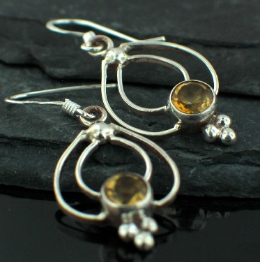 Sterling silver Citrine (2ctw) Earring