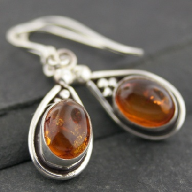 Sterling silver Amber Earring