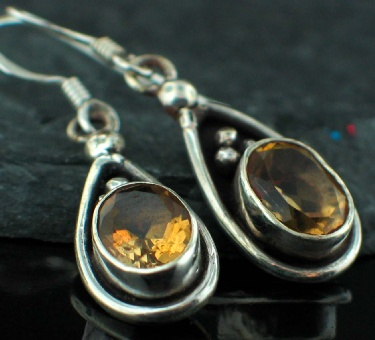 Sterling silver Citrine (4 ctw) Earring