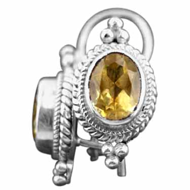 Sterling silver Citrine (5ctw) Earring