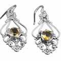 Sterling silver topaz (5ctw) Earring