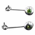 Sterling silver Peridot  (1.5ctw - 5mm) Earring