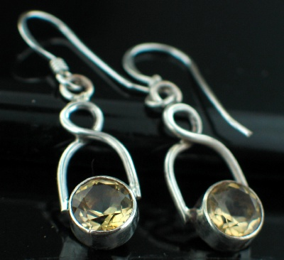 Sterling silver Citrine (3ctw) Earring