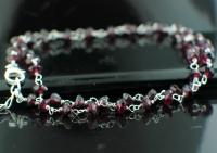 Sterling silver Garnet SilverNecklace