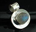 Sterling silver Rainbow Moonstone (7x10mm) Pendant