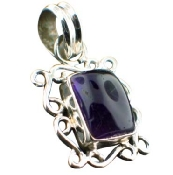 Sterling silver Amethyst (4ctw) Pendant