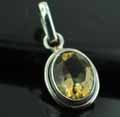 Sterling silver Citrine (5 ctw) Pendant