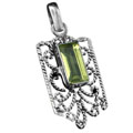 Sterling silver Lemon Quartz Pendant