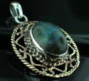 Sterling silver SB - Labradorite (15x20mm) Pendants_SilverBrass