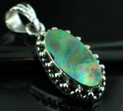 Sterling silver SP - Abalone Shell Pendants_SilverPlated