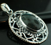 Sterling silver SP - Labradorite  (15x20mm) Pendants_SilverPlated