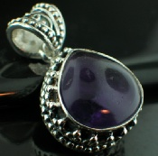 Sterling silver SP - Amethyst (20mm) Pendants_SilverPlated